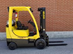 """HYSTER (2008) S50FT 5000 LB. CAPACITY LPG FORKLIFT WITH 189"""" MAX. VERTICAL LIFT, 3 STAGE MAST,"""