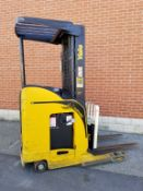 """YALE (2007) NR040DANL36TE095 4000 LB. CAPACITY 36V ELECTRIC REACH TRUCK WITH 212"""" MAX. VERTICAL"""