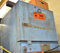 GULLCO MODEL 350 ELECTRODE STABILIZING OVEN WITH 550 DEG. F. MAX. TEMPERATURE, S/N: S/N