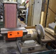 """TRADEMASTER IN15202 BENCH-TYPE COMBINATION SANDER WITH 6"""" BELT, 12"""" DISC, S/N: N/A"""