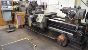 """AMERICAN 36X80 CNC ENGINE LATHE WITH FAGOR CNC CONTROL, 36"""" SWING OVER BED, 80"""" BETWEEN CENTERS,"""