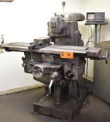 """TOS FA3AH UNIVERSAL MILLING MACHINE WITH 54""""X12"""" TABLE, SPEEDS TO 2000 RPM, ACU-RITE 5 SCALES,"""
