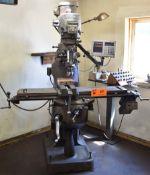 "BRIDGEPORT SERIES I VERTICAL MILLING MACHINE WITH 84""X9"" TABLE, SPEEDS TO 4200 RPM, HEIDENHAIN"