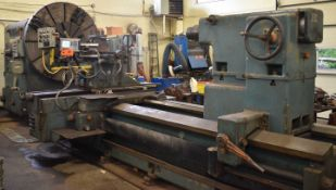 """LEOPLODO PONTIGGA UD R 1000 HEAVY DUTY GAP BED ENGINE LATHE WITH 83"""" SWING OVER BED, 161"""" BETWEEN"""