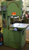 """GROB VERTICAL BAND SAW WITH 24""""X24"""" TABLE, 18"""" THROAT, BLADE WELDER/GRINDER, S/N: N/A (CI) ["""