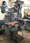 """TOS FNK 25 VERTICAL MILLING MACHINE WITH 49""""X12"""" TABLE, SPEEDS TO 4500 RPM, ACU-RITE DRO, S/N: N/"""