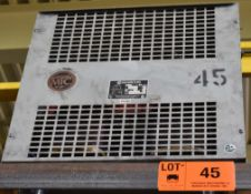 MARCUS 45 KVA TRANSFORMER WITH 600HV/460/260LV/3PH (CI) [RIGGING FEE FOR LOT #45 - $50 CAD PLUS