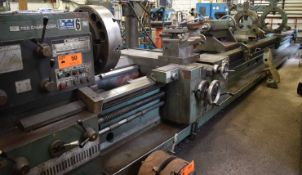 """TOS SUS80 ENGINE LATHE WITH 36"""" SWING OVER BED, 300"""" BETWEEN CENTERS, 3.5"""" SPINDLE BORE, SPEEDS TO"""