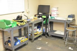 LOT/ SERVICE CARTS WITH TOOLS AND SUPPLIES