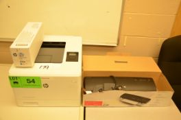 LOT/ HP COLOR LASERJET M452DN PRINTER WITH SPARE OEM BLACK CARTRIDGE AND SWINGLINE FUSION 3000L