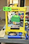 ENERPACK BENCH TYPE HYDRAULIC PRESS WITH POWER FIST PUMP AND CHANGEOVER RAMS, S/N N/A