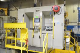 TRI-WAY (2016) OP10 4-AXIS CNC TWIN STATION HORIZONTAL MACHINING CENTER WITH ALLEN BRADLEY 1500P