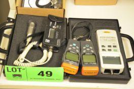 LOT/ (2) DIGITAL VIBRATION METERS AND (2) OMEGA DIGITAL MAGNETIC FIELD DETECTORS