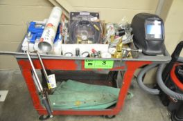 LOT/ WELDING AND CUTTING SUPPLIES WITH CART