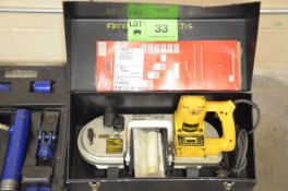 DEWALT DW328 PORTABLE BAND SAW WITH SPARE BLADES AND CASE, S/N 5601