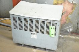 REX 45KVA/600-220V/3PH/60HZ TRANSFORMER, S/N N/A (CI) [RIGGING FEES FOR LOT# 11 - $150 PLUS