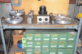 LOT/ CNC LATHE TOOLING WITH RACK