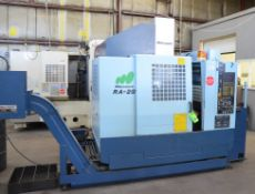 MATSUURA RA-2G CNC TWIN PALLET CNC VERTICAL MACHINING CENTER WITH MATSUURA YASNAC J300 CNC