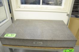 """MITUTOYO 30""""x48""""x6"""" GRANITE PLATE WITH STAND, S/N N/A (CI) [RIGGING FEES FOR LOT# 41 - $400 PLUS"""