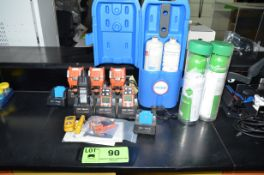 LOT/ DIGITAL GAS MONITORS AND CALIBRATION GAS BOTTLES [RIGGING FEE FOR LOT #90 - $25 USD PLUS