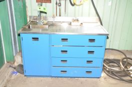LOT/ STAINLESS STEEL LAB BENCH WITH SINGLE BASIN SINK [RIGGING FEE FOR LOT #38 - $25 USD PLUS
