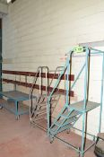 LOT/ ROLLING STEP LADDERS AND ORDER PICKING CART