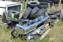 LOT/ REAR BUMPERS, SPARE TIRE AND WHEELS