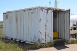 20' STORAGE SEA CONTAINER [RIGGING FEE FOR LOT #35 - $250 USD PLUS APPLICABLE TAXES]