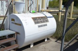 CLEMMER INDUSTRIES 2,000 LITER CAPACITY DOUBLE WALL ABOVE GROUND FUEL STORAGE TANK, S/N 100709 [