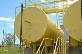 APPROX 12,500 GAL CAPACITY ABOVE GROUND FUEL OIL STORAGE TANK WITH VALVES, S/N N/A [RIGGING FEE