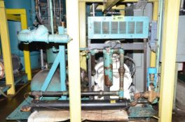 GARDNER DENVER 300HP LIQUID COOLED ROTARY SCREW TYPE AIR COMPRESSOR, SKID MOUNTED WITH BUILT IN HEAT