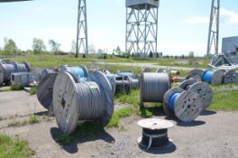 LOT/ LARGE LOT OF CONTROL CABLE AND WIRE [RIGGING FEE FOR LOT #39 - $475 USD PLUS APPLICABLE TAXES]