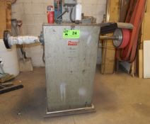 """PRGRESS135 COMBINATION POLISH AND SANDER WITH 61"""" BELT AND 8"""" POLISHING WHEEL S/N: 65 (CI) ["""