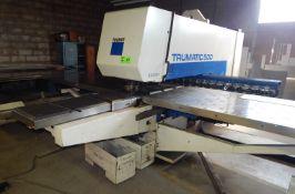"TRUMPF TRUMATIC 500 CNC PUNCH PRESS WITH 22.5 TON MAX PUNCH CAPACITY, 20 STATION TOOL HOLDER, 98"""