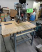 """DELTA ROCKWELL DOUBLE MITER RADIAL ARM SAW WITH 10"""" BLADE S/N: N/A"""