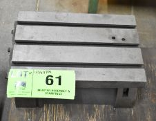 """14-3/4""""X9-1/2"""" ADJUSTABLE T-SLOT TABLE, S/N: N/A"""