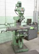 """EX-CELL-O 602 TURRET MILL WITH 9' X 48"""" T-SLOT TABLE, R8 COLLET SPINDLE, SPEEDS TO 3800RPM, S/N:"""