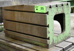 """36"""" X 24"""" X 22"""" T-SLOT BOX TABLE, S/N: N/A [RIGGING FEE FOR LOT #25 - $50 USD PLUS APPLICABLE"""