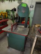 E-R MAIER MFG KM1012 VERTICAL BANDSAW, S/N: 69595 [RIGGING FEE FOR LOT #7 - $50 USD PLUS