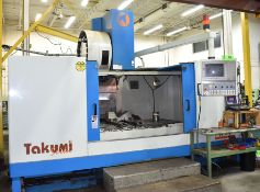 "TAKUMI SEIKI (2000) V17A CNC VERTICAL MACHINING CENTER WITH TRAVELS X- 66.9"", Y- 33.5"", Z- 29.6"","