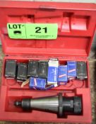 LOT/ 50 TAPER TOOL HOLDER WITH COLLETS