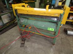"""EDWARDS 4/16 T/GUIL PNEUMATIC SHEAR WITH 50.5"""" BLADE 49.5 X 16BG, S/N: 76C/43775 [RIGGING FEE FOR"""