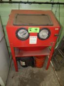VERTICAL SAND BLAST CABINET, S/N: N/A [RIGGING FEE FOR LOT #10 - $25 USD PLUS APPLICABLE TAXES]