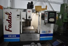 """FADAL 904-1 CNC VERTICAL MACHINING CENTER WITH FADAL CNC88HS CNC CONTROL, 39.5""""X16"""" TABLE,"""