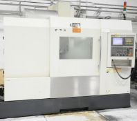 FIRST (2008) V-43, CNC HIGH SPEED VERTICAL MACHINING CENTER WITH FANUC SERIES 18I-MB CNC CONTROL,