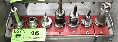 LOT/ (7) BT 40 TAPER TOOL HOLDERS (NO TOOLS) (LOCATED IN TORONTO, ON)