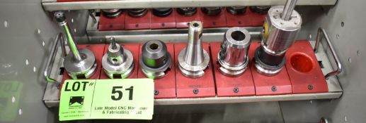 LOT/ (6) BT 40 TAPER TOOL HOLDERS (NO TOOLS) (LOCATED IN TORONTO, ON)