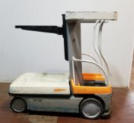 """CROWN (2009) WAV50-118 24V ELECTRIC ORDER PICKER WITH 550 LB. CAPACITY, 118"""" MAX. LIFT HEIGHT,"""
