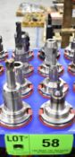LOT/ (8) CAT 50 TAPER TOOL HOLDERS (NO TOOLS) (LOCATED IN TORONTO, ON)