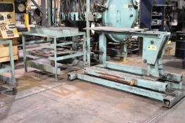 LOT/ (2) LOAD-UNLOAD STATIONS WITH ROLLING CHARGE CART, S/N: N/A